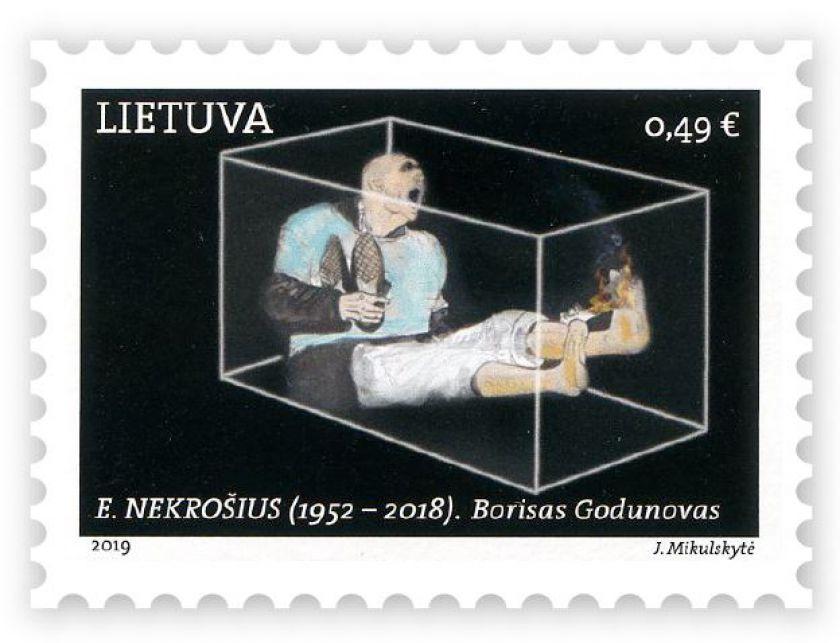"""Išleidžiamas pašto ženklas su E. Nekrošiaus spektaklio """"Borisas Godunovas"""" motyvu"""