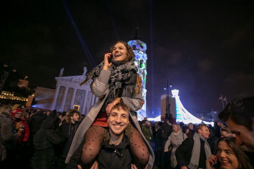 Pamatykite, kaip 2020-uosius pasitiko Vilnius