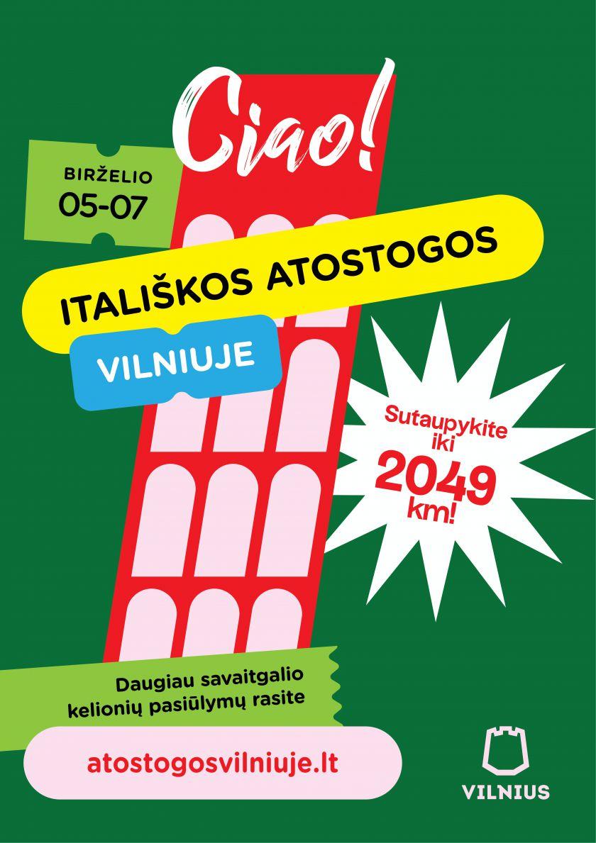 Itališki automobiliai, mados, kinas ir netgi karnavalas: penktadienį Vilniuje prasidės itališkos atostogos