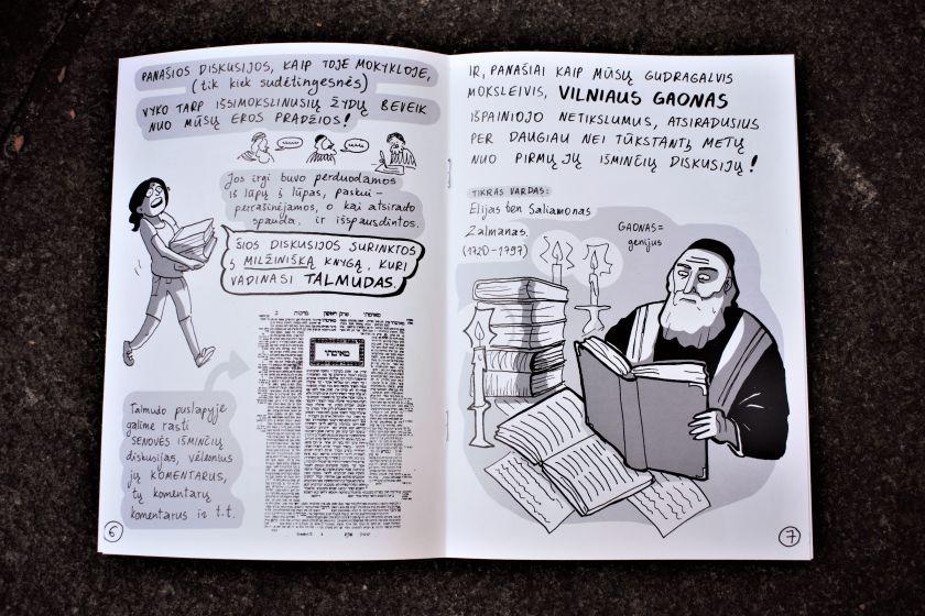 Pristatomi komiksai apie Vilniaus Gaoną ir štetlus