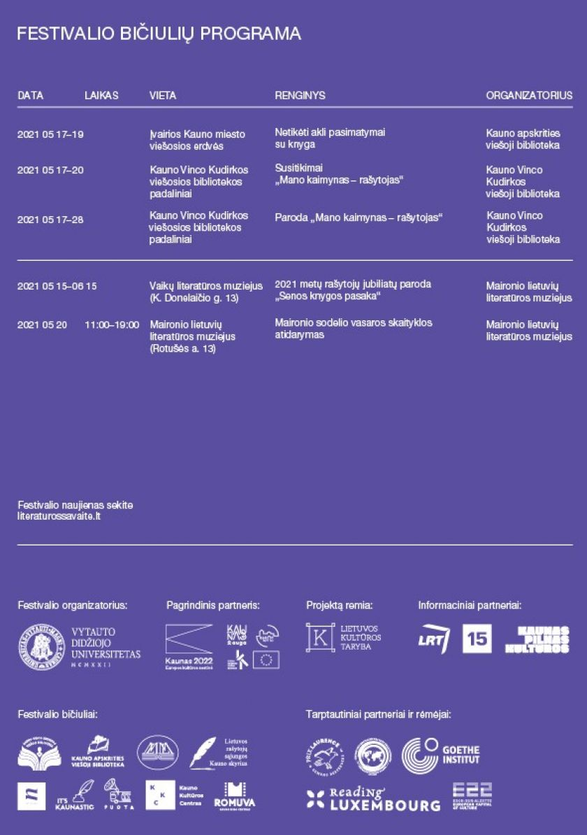 """""""Kauno literatūros savaitėje"""" – išskirtinis dėmesys jauniesiems literatūros kūrėjams"""
