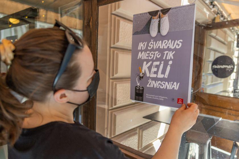 Vilniaus barai ir kavinės kviečia prisidėti prie miesto švaros palaikymo