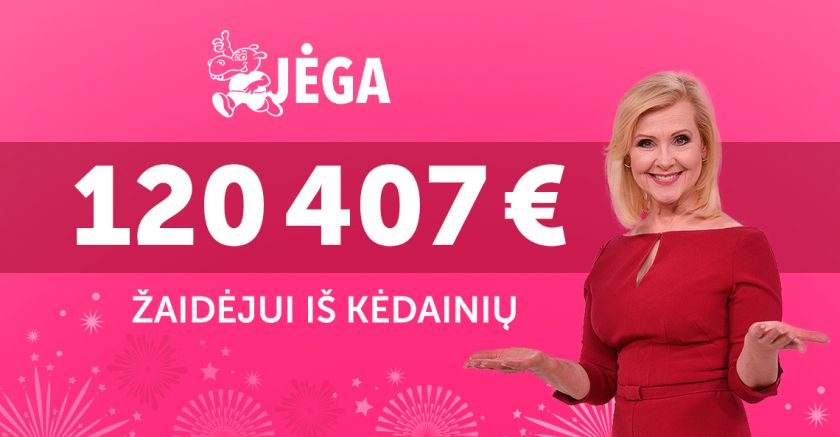 """Kviečiame atsiliepti loterijos """"Jėga"""" 120 407 Eur prizo laimėtoją iš Kėdainių"""