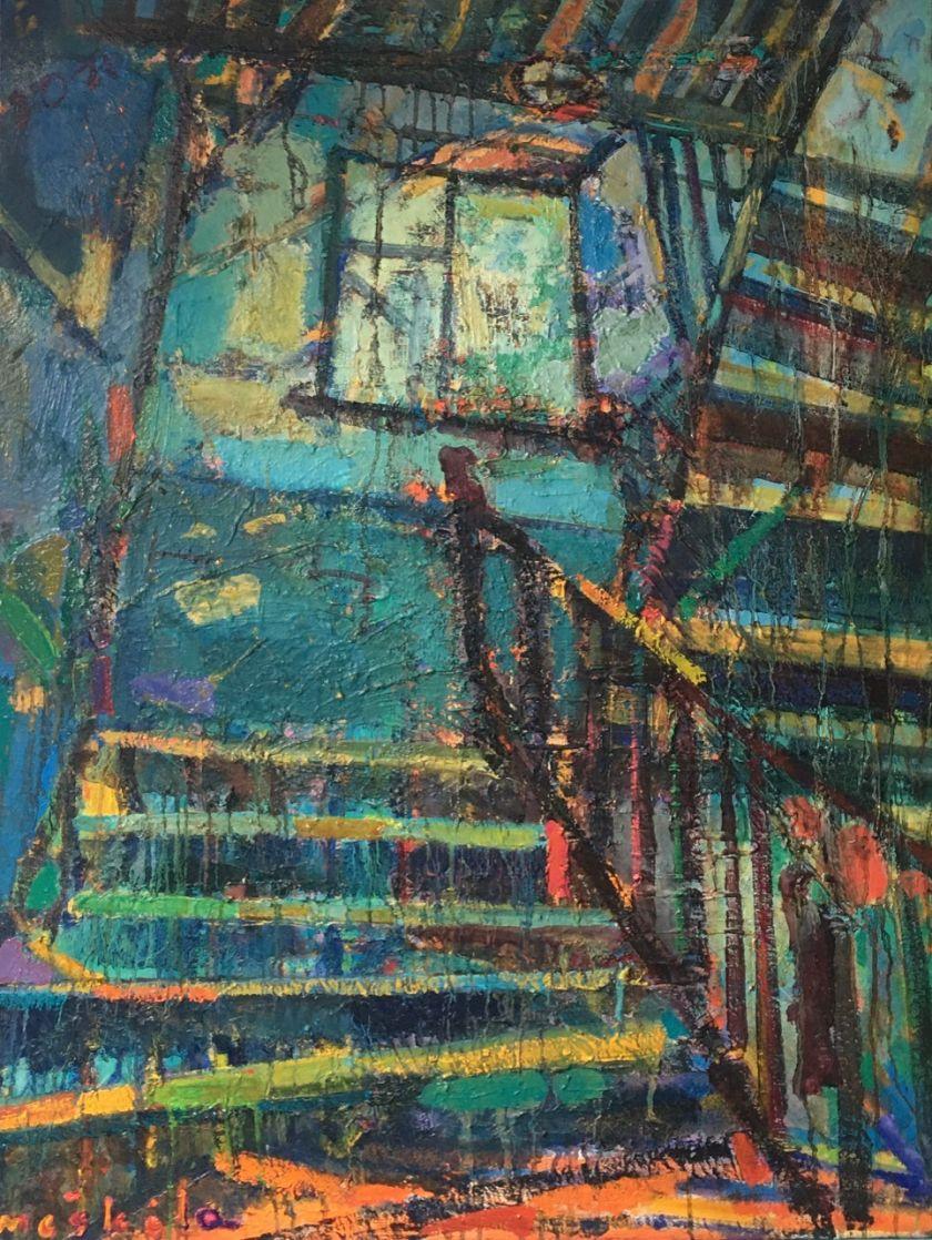 Klajonės Vilniumi – naujausioje Manto Meškėlos tapybos parodoje